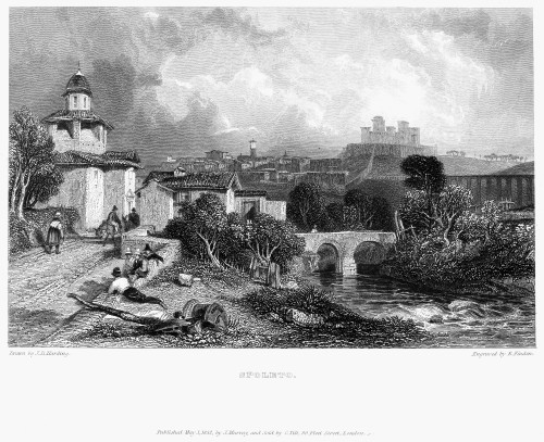 Italy: Spoleto, 1832. /Nsteel Engraving, English, 1832. Poster Print by Granger Collection - Item # VARGRC0033701