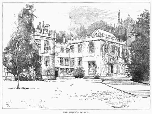 Salisbury: Bishop'S Palace. /Nbishop'S Palace At Salisbury, England. Line Engraving, 19Th Century. Poster Print by Granger Collection - Item # VARGRC0091591