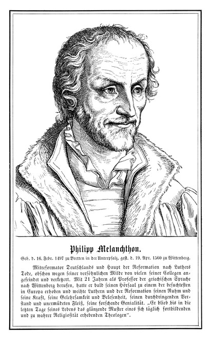 Philip Melanchthon (1497-1560). German Scholar And Religious Reformer. Poster Print by Granger Collection - Item # VARGRC0049953