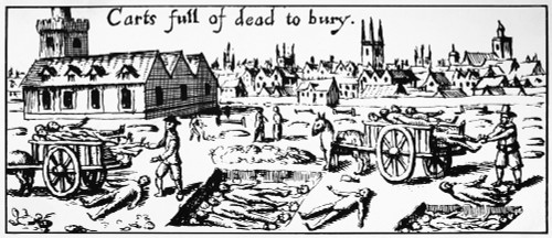 Plague Of London, 1665. /Nburying The Dead In Mass Graves. Engraving From A Contemporary English Broadside Reporting On The Great Plague Of London, 1665. Poster Print by Granger Collection - Item # VARGRC0126392