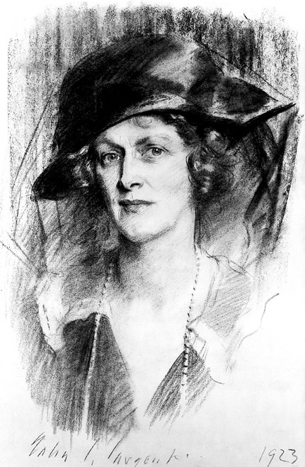 Nancy Witcher Astor /N(1879-1964). N_E Langhorne. English (American-Born) Society Leader And First Woman To Sit In The British Parliament. Chalk Drawing By John Singer Sargent, 1923. Poster Print by Granger Collection - Item # VARGRC0000364
