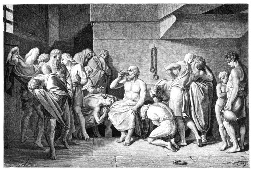Socrates (470?-399 B.C.). /Ngreek Philosopher. The Death Of Socrates. Wood Engraving, German, 19Th Century. Poster Print by Granger Collection - Item # VARGRC0017703