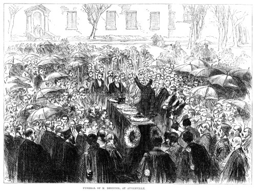 Antoine Pierre Berryer /N(1870-1868). French Advocate And Statesman. Funeral Of Berryer At Augerville, France. Wood Engraving, English, 1868. Poster Print by Granger Collection - Item # VARGRC0370553