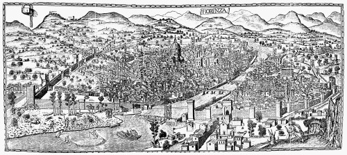 Italy: Florence, C1500. /Nview Of Florence, Italy. Woodcut, C1500, Attributed To Lucantonio Degli Uberti. Poster Print by Granger Collection - Item # VARGRC0005639