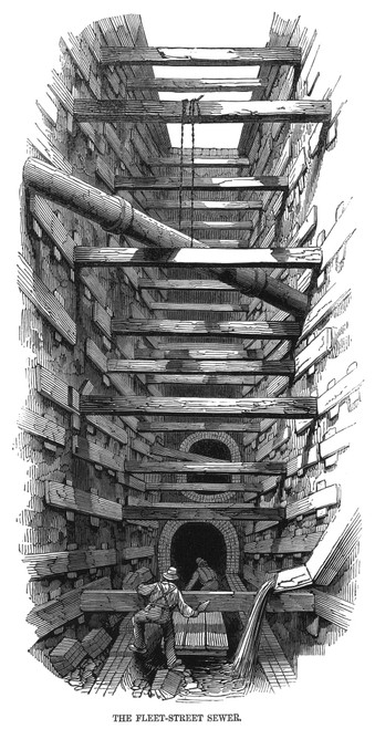 London: Fleet Street Sewer. /Ndeepening The Fleet Street Sewer At London In 1845: Contemporary Engraving. Poster Print by Granger Collection - Item # VARGRC0066779