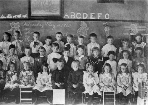 Mamie Eisenhower /N(1896-1979). Wife Of President Dwight D. Eisenhower. Mamie (Second Row, Third From Left) And Her Grammar School Class. Photograph, 13 May 1903. Poster Print by Granger Collection - Item # VARGRC0259771