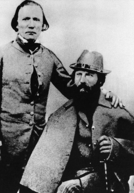 Carson And Fremont. /Na Portrait Of American Explorer John C. Fremont And Frontiersman Kit Carson. Photograph, C1845. Poster Print by Granger Collection - Item # VARGRC0175409