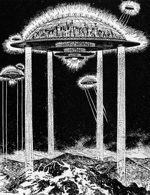 Future City, 1922. /Nelectric Rays Would Suspend /Na Future City In High, Clean Air. Illustration By Hugo Gernsback For An American Science Magazine, 1922. Poster Print by Granger Collection - Item # VARGRC0123930
