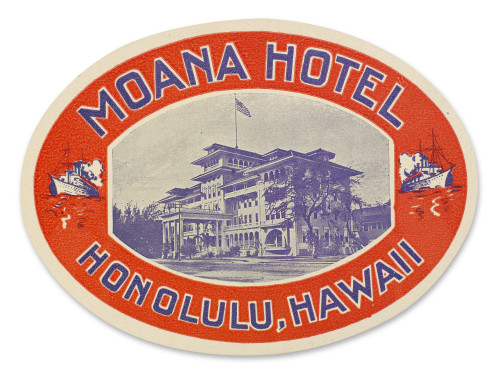 Luggage Label. /Nluggage Label From The Moana Hotel In Honolulu, Hawaii, 20Th Century. Poster Print by Granger Collection - Item # VARGRC0095803