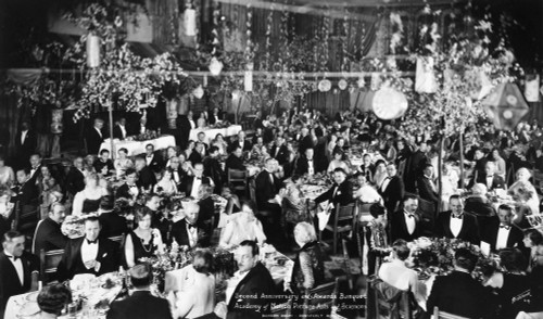 Academy Awards, 1929. /Nbanquet At The First Academy Awards Ceremony, 16 May 1929, In The Blossom Room Of The Roosevelt Hotel, Hollywood, California. Poster Print by Granger Collection - Item # VARGRC0116740