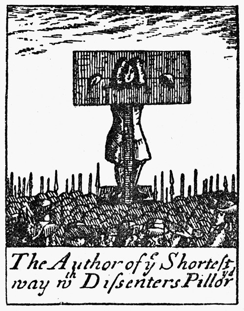 Richard Steele (1672-1729). /Nenglish Writer. Steele In The Pillory. Contemporary Woodcut. Poster Print by Granger Collection - Item # VARGRC0040439