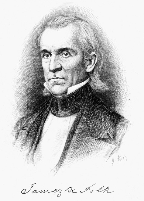 James Knox Polk (1795-1849). /Neleventh President Of The United States. Etching, 19Th Century. Poster Print by Granger Collection - Item # VARGRC0062248
