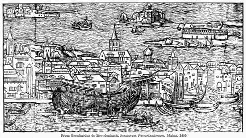 Ship: Venice, 1486. /Nthe Building Of A Ship In Venice. German Woodcut, 1486, From Bernhard Von Breydenbach'S 'Sanctae Peregrinationes.' Poster Print by Granger Collection - Item # VARGRC0120976