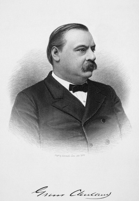 Grover Cleveland /N(1837-1908). 22Nd And 24Th President Of The United States. Steel Engraving, 19Th Century. Poster Print by Granger Collection - Item # VARGRC0066911
