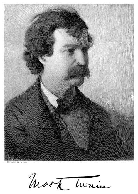Samuel Langhorne Clemens /N(1835-1910). 'Mark Twain.' American Humorist And Writer. Wood Engraving, 1882. Poster Print by Granger Collection - Item # VARGRC0004344