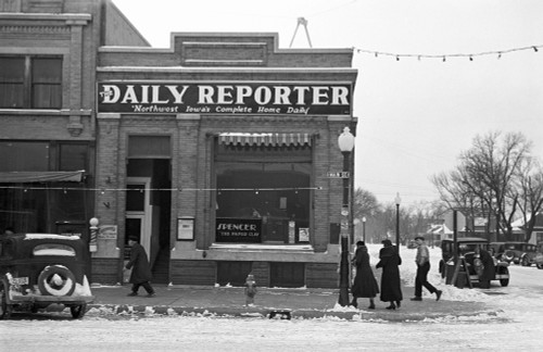 Iowa: Street Scene, 1936. /Nmain Street On A Winter Day In Spencer, Iowa. Photograph By Russell Lee, December 1936. Poster Print by Granger Collection - Item # VARGRC0121247
