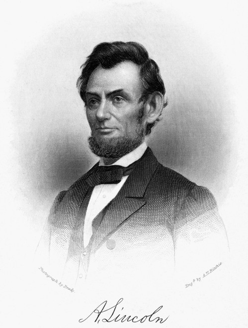 Abraham Lincoln /N(1809-1865). 16Th President Of The United States. Line And Stipple Engraving, 19Th Century. Poster Print by Granger Collection - Item # VARGRC0039832