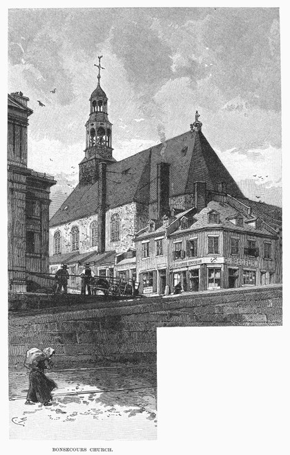 Montreal: Bonsecours. /Nbonsecours Church At Montreal, Canada. Line Engraving, 1889. Poster Print by Granger Collection - Item # VARGRC0094600