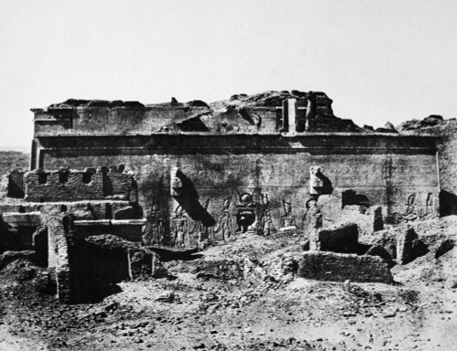 Temple Of Hathor, 1850. /Nthe Temple Of Hathor At Dendera. Photograph, 1850, By The French Journalist And Traveller Maxime Du Camp. Poster Print by Granger Collection - Item # VARGRC0047068