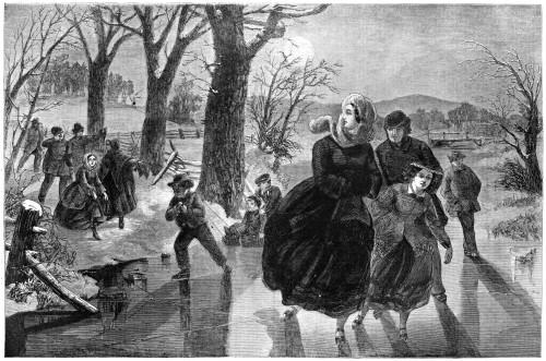 Ice Skating, 1862. /Nice Skating Season. Engraving, 1862. Poster Print by Granger Collection - Item # VARGRC0267274