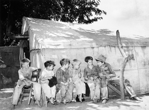 Child Workers, 1939. /Nsons Of Migrant Workers Employed By The Works Projects Administration, Near Wilbur Falls, Oklahoma. Photograph, 1939, By Russell Lee. Poster Print by Granger Collection - Item # VARGRC0029084