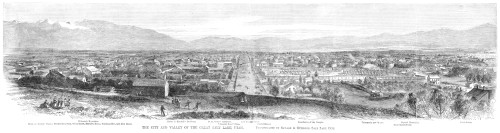 Salt Lake City, 1866. /N'The City And Valley Of The Great Salt Lake, Utah.' Engraving, 1866. Poster Print by Granger Collection - Item # VARGRC0265796