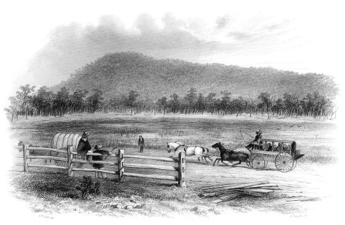 Victoria, Australia, 1856. /Nview Of Mount Macedon, Victoria. Steel Engraving, Australian, 1856. Poster Print by Granger Collection - Item # VARGRC0066470