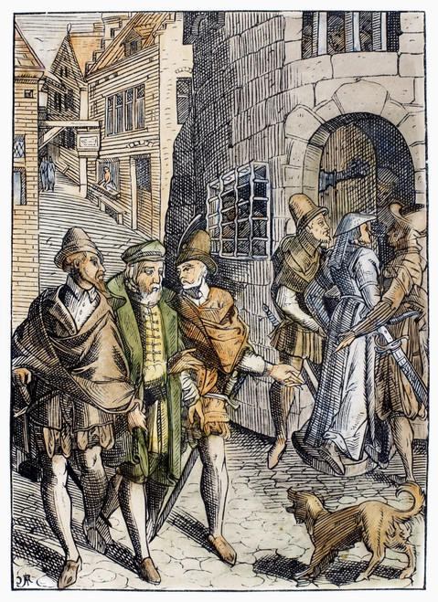 Medieval Prison, 1557. /Nthe Provost'S Prison. Woodcut From 'Praxis Rerum Civilium,' By Josse Damhoudere, Published 1557 In Antwerp. Poster Print by Granger Collection - Item # VARGRC0103041