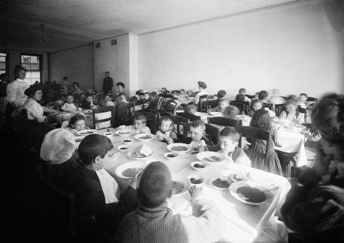 East Side Free School, C1910. /Nchildren Eating Lunch At The Crippled Children'S East Side Free School On Henry Street In New York City. Photograph, C1910. Poster Print by Granger Collection - Item # VARGRC0325775