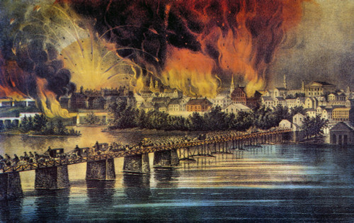 Fall Of Richmond, 1865. /Nthe Fall Of Richmond, Virginia, On 2 April 1865: Lithograph, 1865, By Currier & Ives. Poster Print by Granger Collection - Item # VARGRC0011708