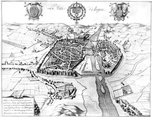 France: Walled City, 1688. /Nthe City Of Angers On The Maine River In North-Western France. Line Engraving, French, 1688. Poster Print by Granger Collection - Item # VARGRC0117103