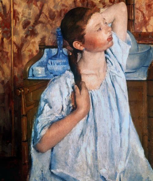 Cassatt: Girl, 1886. /Ngirl Arranging Her Hair. Canvas By Mary Cassatt. Poster Print by Granger Collection - Item # VARGRC0020120