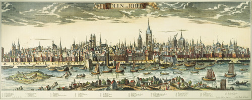 Germany: Cologne, 1710. /Nview Of Cologne, Germany And The Rhine River: Copper Engraving, German, 1710. Poster Print by Granger Collection - Item # VARGRC0055454