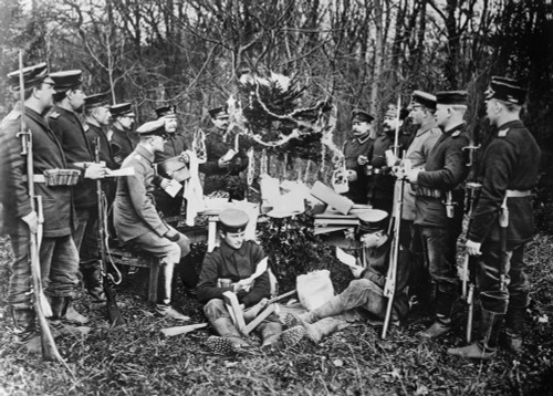 Wwi: Christmas, C1915. /Ngerman Soldiers Celebrating Christmas During World War I. Photograph, C1914. Poster Print by Granger Collection - Item # VARGRC0353589
