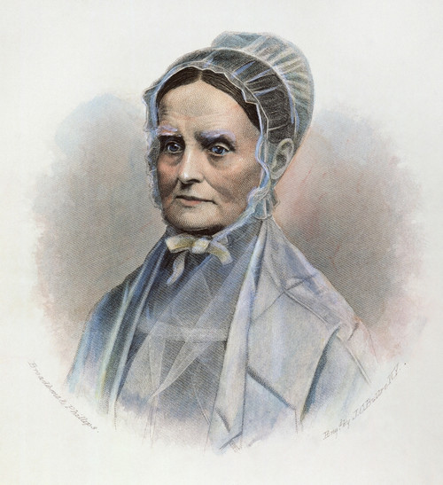 Lucretia Coffin Mott /N(1793-1880). American Reformer. Contemporary American Steel Engraving. Poster Print by Granger Collection - Item # VARGRC0027291