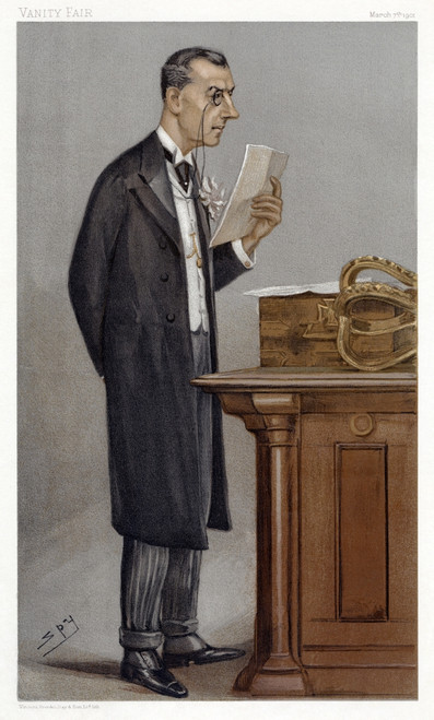 Joseph Chamberlain /N(1836-1914). British Politician And Reformer. At The Despatch Box In The House Of Commons. Caricature Lithograph, 1901, By 'Spy' (Sir Leslie Ward). Poster Print by Granger Collection - Item # VARGRC0265931