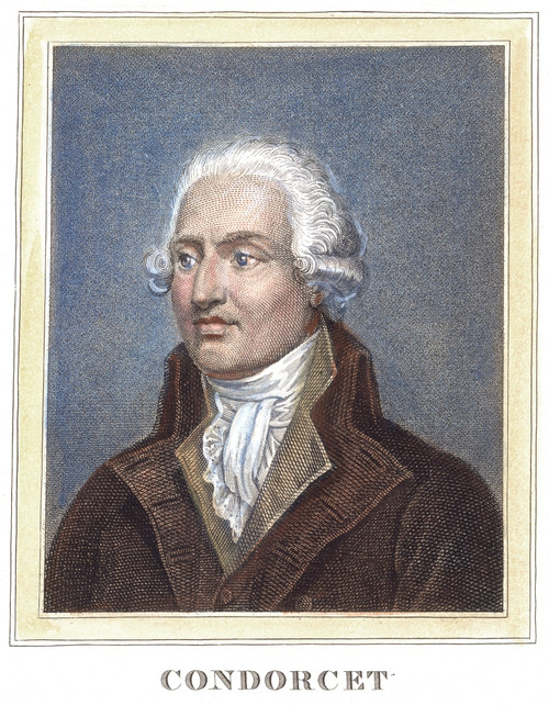 Marquis De Condorcet /N(1743-1794). Marie Jean Antoine Nicolas De Caritat, Marquis De Condorcet. French Mathematician, Philosopher, And Revolutionary. Steel Engraving, French, 19Th Century. Poster Print by Granger Collection - Item # VARGRC0055844