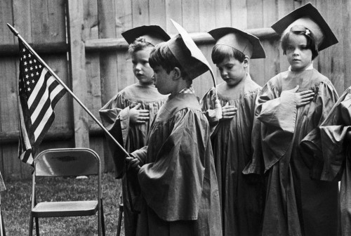 Pledging Allegiance, 1978. /Nchildren In A Nursery School At South Weymouth, Massachusetts, Pledging Allegiance To The Flag At The Graduation Ceremony, 1977. Poster Print by Granger Collection - Item # VARGRC0128785