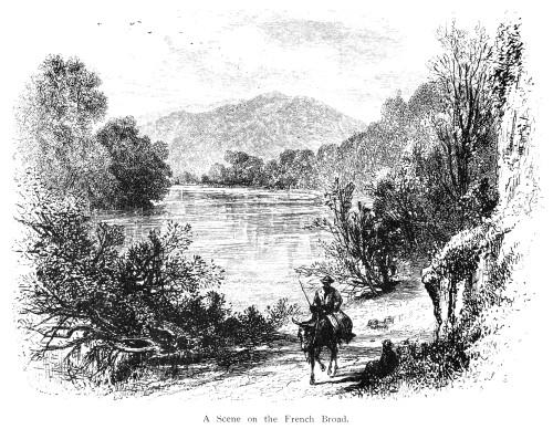 North Carolina, C1875. /Na Scene Along The French Broad River, North Carolina. Line Engraving, C1875. Poster Print by Granger Collection - Item # VARGRC0015188