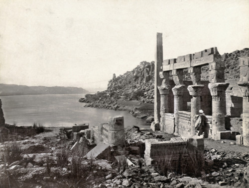 Egypt: Island Of Philae. /Na Man Looking Out At The Nile River From A Temple On The Island Of Philae, Egypt. Photograph By Francis Frith, C1860. Poster Print by Granger Collection - Item # VARGRC0129131