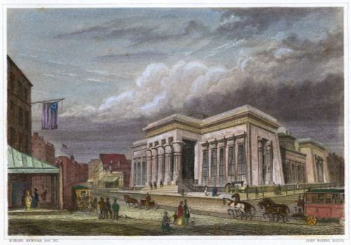 Nyc: The Tombs, 1850. /Nmanhattan House Of Detention For Men, Built In 1840 At Centre And Leonard Streets In New York. Steel Engraving, American, 1850. Poster Print by Granger Collection - Item # VARGRC0065839