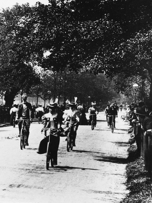 London: Hyde Park, C1895. /Ncyclists In Hyde Park, London, England. Photographed C1895. Poster Print by Granger Collection - Item # VARGRC0094440