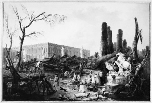Versailles: Gardens, C1775. /Nchanges Being Made In The Gardens Of The Palace Of Versailles. Oil On Canvas By Hubert Robert, C1775. Poster Print by Granger Collection - Item # VARGRC0117622