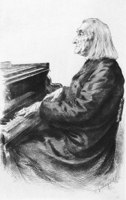 Franz Liszt (1811-1886). /Nhungarian Pianist And Composer. Etching, 19Th Century. Poster Print by Granger Collection - Item # VARGRC0029389