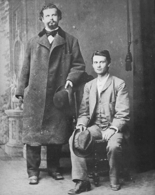 Ludwig Ii (1845-1886). /Nking Of Bavaria, 1864-1886. Standing At Left, With The Hungarian Actor Josef Kainz: Photographed In Switzerland, 1881. Poster Print by Granger Collection - Item # VARGRC0065057