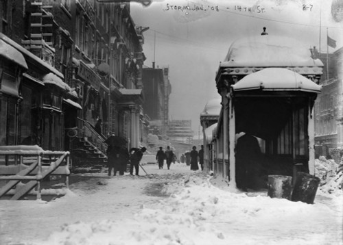 New York: Snow Storm, 1908. /Na View Of 14Th Street In New York City During A Snow Storm. Photograph, 1908. Poster Print by Granger Collection - Item # VARGRC0325552
