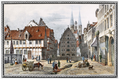 Germany: Braunschweig. /Nthe Kohlmarket At Braunschweig. Engraving, Mid-19Th Century. Poster Print by Granger Collection - Item # VARGRC0051970