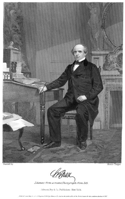 Salmon Portland Chase /N(1808-1873). Chief Justice Of The United States Supreme Court, 1864-1873. Steel Engraving, 1863. Poster Print by Granger Collection - Item # VARGRC0053415