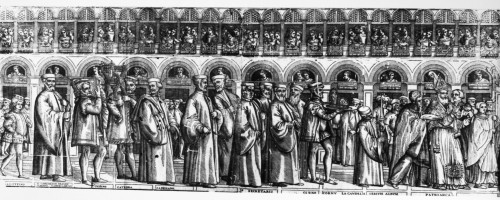 Palm Sunday Procession. /Npalm Sunday Procession Led By The Doge Of Venice. Line Engraving, 1560S. Poster Print by Granger Collection - Item # VARGRC0125184
