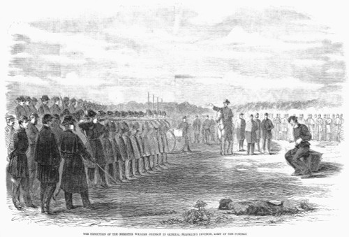 Civil War: Union Deserter. /N'The Execution Of The Deserter William Johnson In General Franklin'S Division, Army Of The Potomac.' Wood Engraving From An American Newspaper Of December 1861. Poster Print by Granger Collection - Item # VARGRC0088868